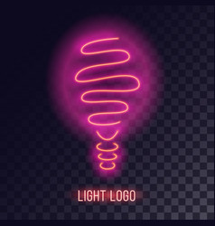 Pinkish neon light design vector