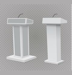 podium tribune rostrum stand with vector image