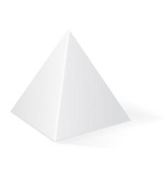 Pyramid 3d geometric shape vector