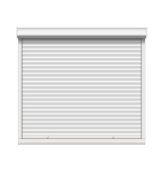 Realistic window roller shutters front vector