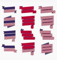 Red white blue american flag ribbons and banners vector image