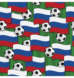 russia football pattern vector image