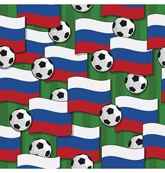 Russia football pattern vector