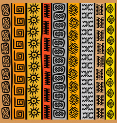 seamless pattern with ethnic african motifs vector image