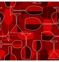 Seamless wineglass background vector image