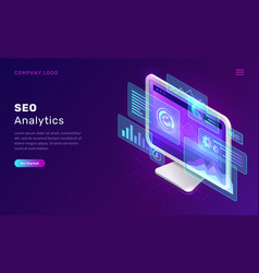 seo search engine optimization analytics concept vector image
