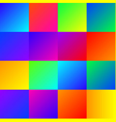 set of color blurred gradients vector image