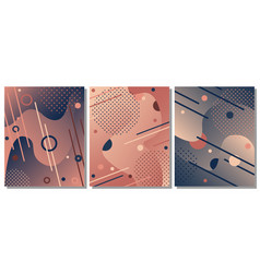 set of modern artistic background vector image