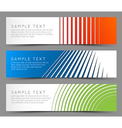 Simple colorful horizontal banners vector image