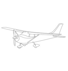 small private plane vector image