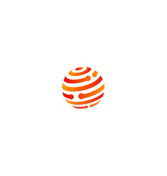 sphere technology company logo vector image