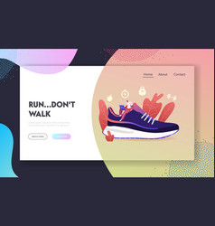sportswear and smart shoes for training landing vector image