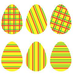 Striped eggs2 vector
