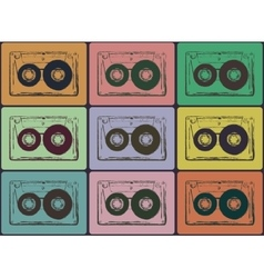 Tape cassettes vector image