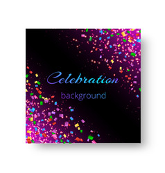 The design of cover of a brochure with confetti vector