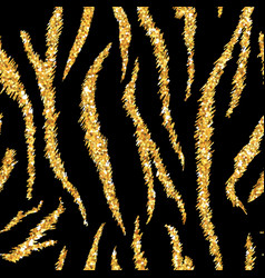 tiger texture seamless animal pattern golden vector image