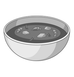 Tom yum thai soup icon monochrome vector