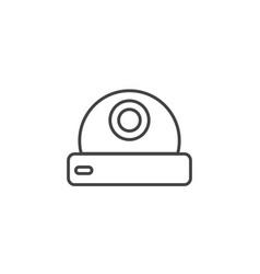 webcam device technology icon line design vector image