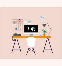 Working at home freelancers home office vector