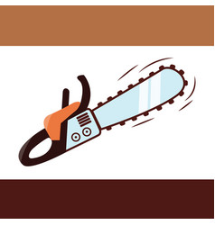 chainsaw icon vector image