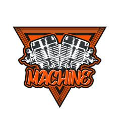 engine design vector image