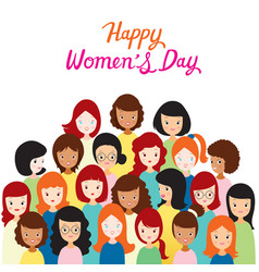 international womens day group of women with vector image