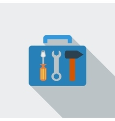 Tool box single icon vector image