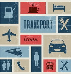 vintage transport traffic poster vector image vector image