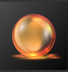 3d orange sphere vector image