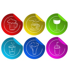 Beverage Stickers vector image vector image