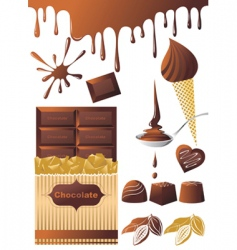 chocolate set vector image vector image