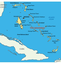 Commonwealth of the Bahamas - map vector image