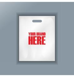 Digital cellophane bag plastic mockup vector image