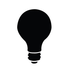 light bulb silhouette vector image