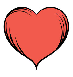 Red heart icon cartoon vector