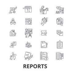 reports documents analytics paper data vector image vector image