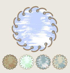 Set of round stickers and labels with grunge vector