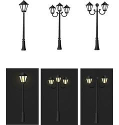 streeoutdoor shine led decoration street light vector image