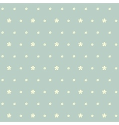 Yellow flowers and polka dot seamless pattern vector image