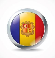 Andorra flag button vector image