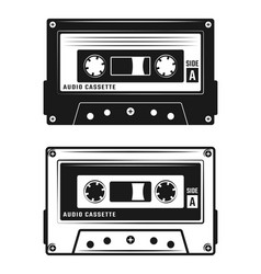 audio cassette tape two style vector image