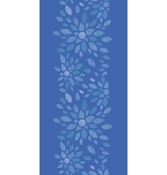 Blue textile peony flowers vertical seamless vector image vector image