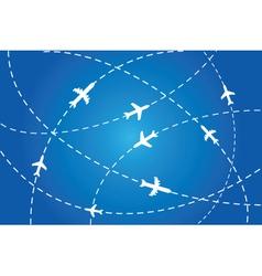 flight path poster vector image