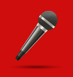realistic detailed 3d modern metal microphone vector image vector image