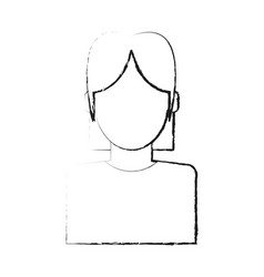 blurred silhouette faceless half body woman with t vector image vector image