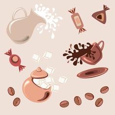 Breakfast with coffee vector image vector image