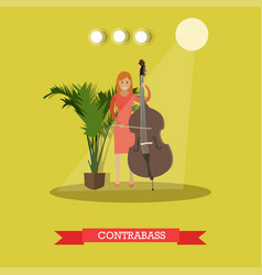 flat of woman playing vector image vector image