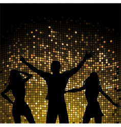 party people and mosaic background vector image