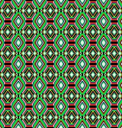 seamless background of geometric ornament with gre vector image vector image