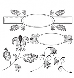 vintage design floral elements vector image